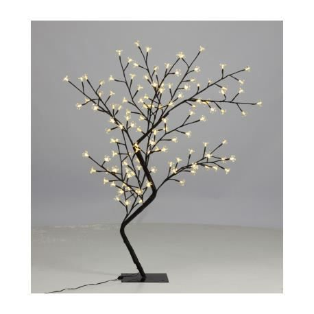 arbre lumineux led 120 cm blanc chaud achat vente. Black Bedroom Furniture Sets. Home Design Ideas