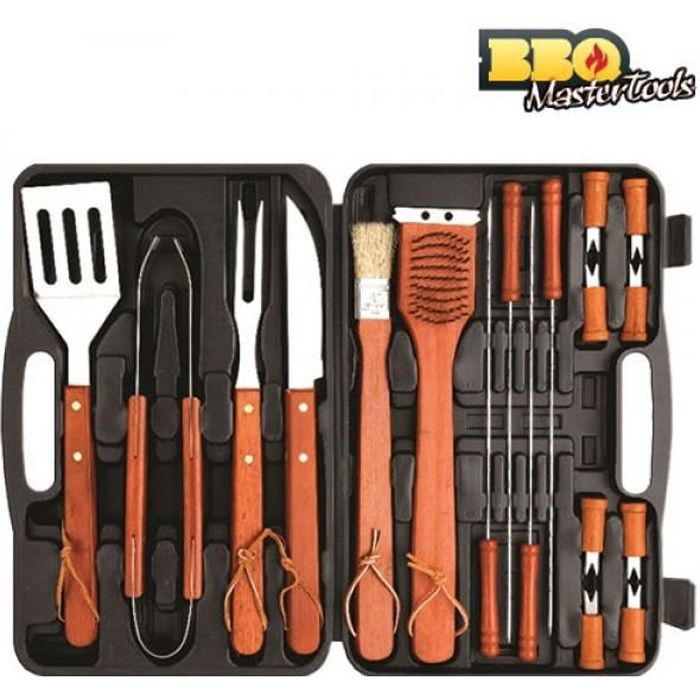 mallette ustensiles barbecue bbq master tools 18 pi ces achat vente ustensile mallette. Black Bedroom Furniture Sets. Home Design Ideas