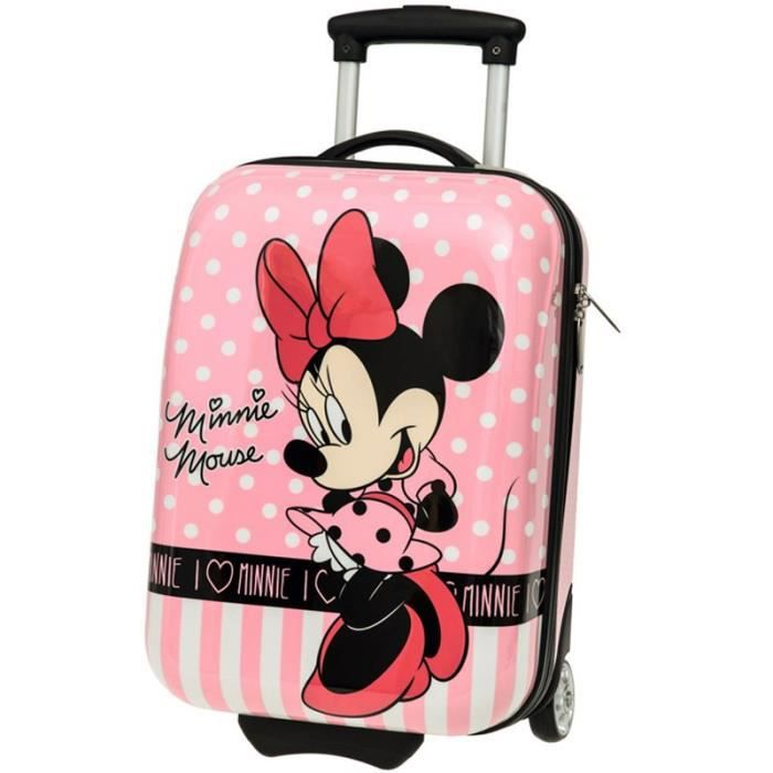 valise trolley minnie mouse 48cm rose rose achat vente valise bagage 3662796037256. Black Bedroom Furniture Sets. Home Design Ideas