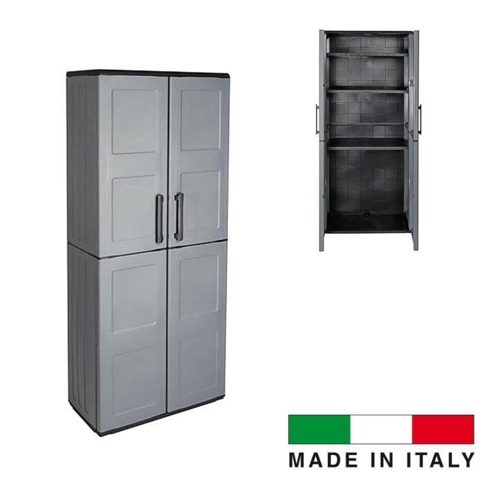 armoire int rieur exterieur gris made in italie achat. Black Bedroom Furniture Sets. Home Design Ideas