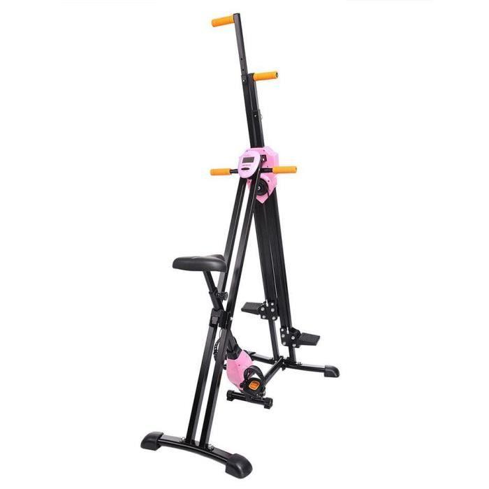 Grimpeur Vertical Machine d'Escalade Verticale à la Maison Appareil de Fitness