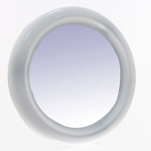 miroir rond diam 30 cm blanc achat vente miroir pvc soldes d t cdiscount. Black Bedroom Furniture Sets. Home Design Ideas