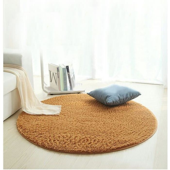 Tapis salon carpet tapis chambre rond tapis shaggy yoga for Chambre yoga