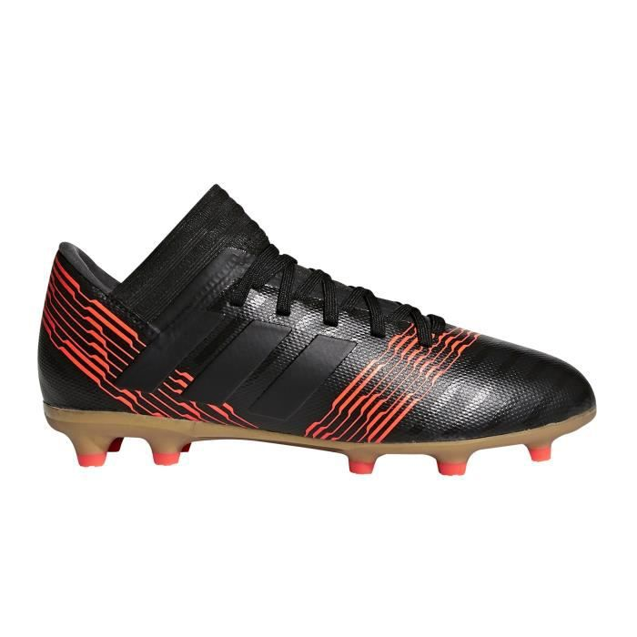 new styles 17167 3cef8 Chaussures football adidas Nemeziz 17.3 FG Noir-Orange Junior