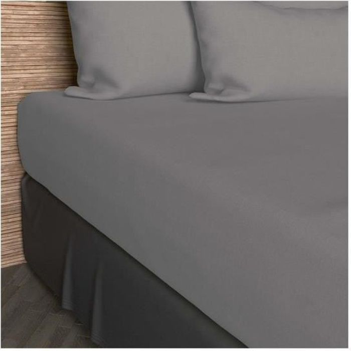 Drap Housse - Coton SO - Gris - 140 x 200