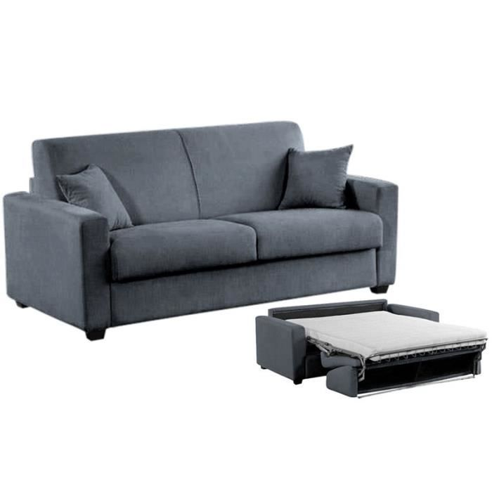 milano canap convertible lit microfibre 140x190 achat vente canap sofa divan cdiscount. Black Bedroom Furniture Sets. Home Design Ideas