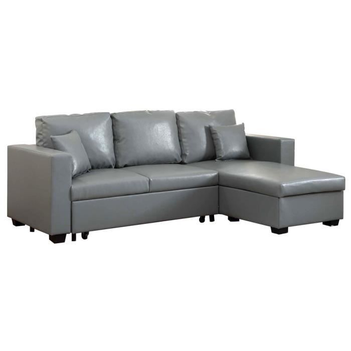 canap d 39 angle r versible convertible switsofa cloom gris achat vente. Black Bedroom Furniture Sets. Home Design Ideas