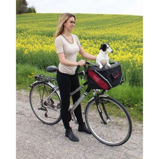 Kerbl Panier de Vélo Transport pour Chiens Vacation 38 x 25 x 25 cm Noir 80595