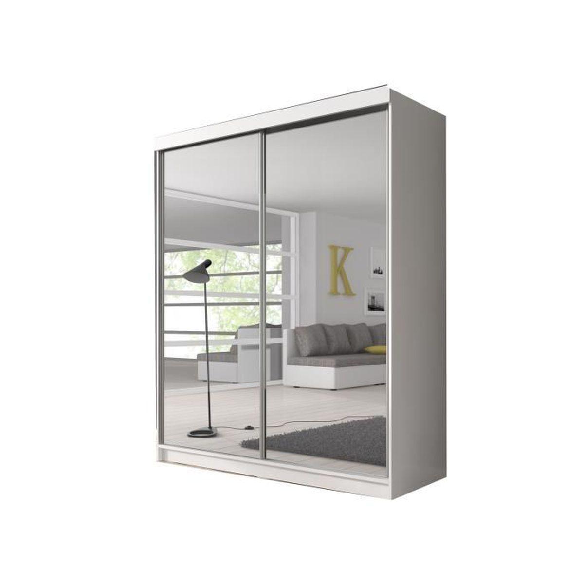 ARMOIRE DE CHAMBRE Armoire de chambre avec miroirs 2 portes coulissan