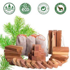 PRODUIT INSECTICIDE Antimite [60pcs] Blocs bois de cèdre Aromatique An