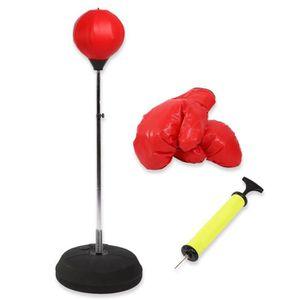 SAC DE FRAPPE Ballon d'Exercice de Boxe Pour Adulte Avec Gants E