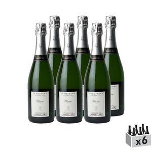 CHAMPAGNE Champagne premier cru Brut Platine Blanc - Lot de