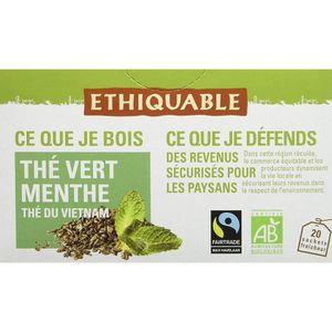 THÉ Ethiquable Thé Vert Menthe Vietnam Bio et Équitabl