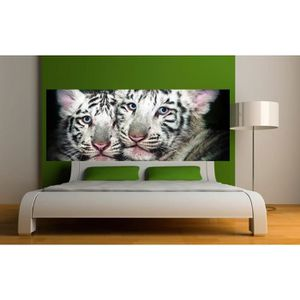 stickers tete de lit tigre achat vente stickers tete de lit tigre pas cher cdiscount. Black Bedroom Furniture Sets. Home Design Ideas