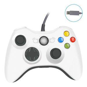 MANETTE JEUX VIDÉO RW Xbox 360 Manette Filaire de 2.2m Double Vibrati