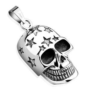 PENDENTIF VENDU SEUL Pendentif skull étoiles