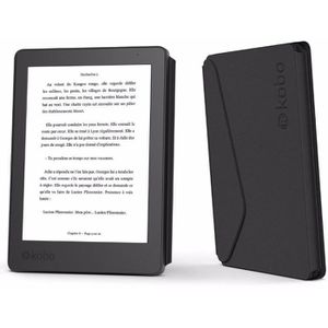 HOUSSE LISEUSE Etui KOBO E-book Aura 2eme édition noir