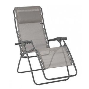 10T Quickfold Plus Chaise de camping pliant l/éger et stable avec repose-pied Noir//Beige