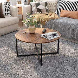 TABLE BASSE LANGRIA Table Basse De Salon Ronde Industrielle -