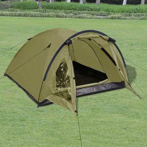 TENTE DE CAMPING Tente pour 3 personnes Vert