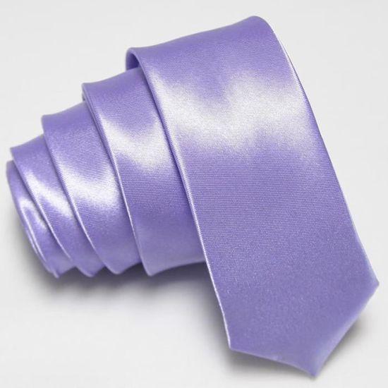 Cravate Satinée Brillante couleur Mauve clair