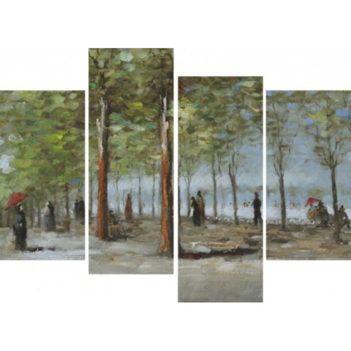 vincent van gogh poster reproduction sur toile tendue sur ch ssis all e dans le jardin du. Black Bedroom Furniture Sets. Home Design Ideas