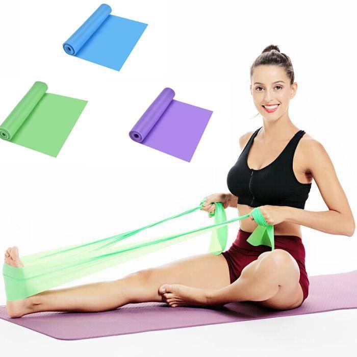 Lot de 3 Bandes de Résistance Bande Élastique Musculation Fitness 3 Niveaux De Force Pour Yoga, Rééducation Physique