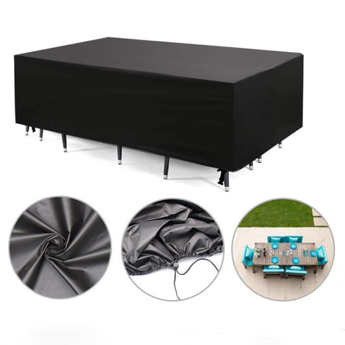 Couverture de meubles de jardin imperméable, table de jardin de couverture de protection de meubles, canapé, 160*140*100cm
