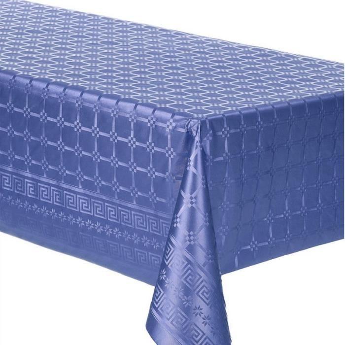 Lot de 4 Rouleaux de Nappe en papier Damassé, Bleu Marine, 4x 5m x 1m20, déco de table - Unique