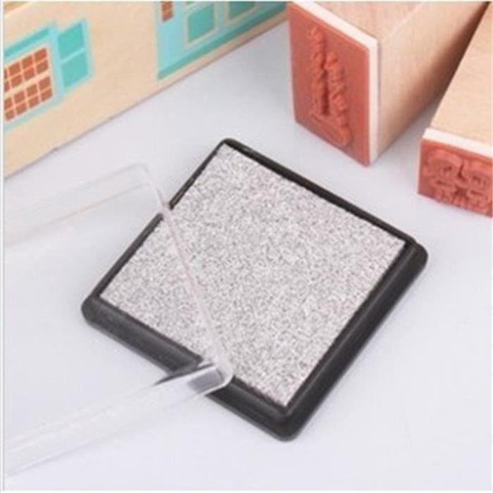 UK DIY Tampons Encreurs Encre Scrapbooking Inkpad Décor Carte Stamp Fête Noel Metallic Silver Aw71822
