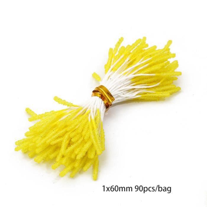 Décoration florale,Fleurs artificielles rouges et jaunes,en lot de baies d'étamine,violets et jaunes de cerise,à faire - Type 17