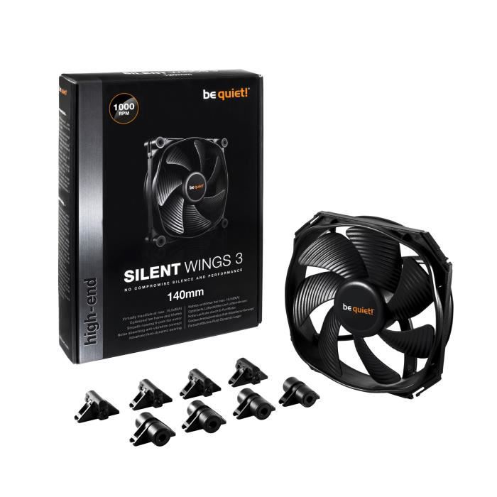 Be Quiet Ventilateur de boîtier SILENT WINGS 3 - 140mm