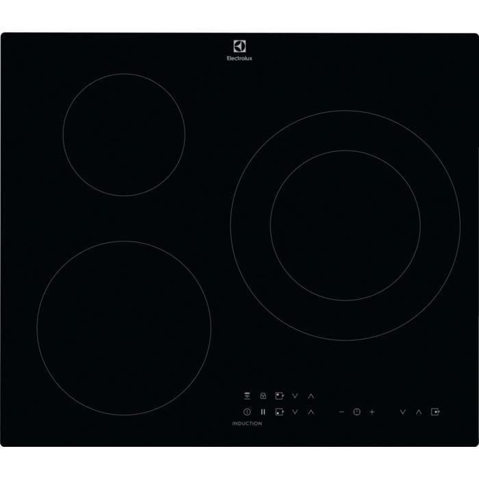 Electrolux EIT60336CK, Intégré, Plaque avec zone à induction, Noir, 2500 W, 14,5 cm, 2500 W