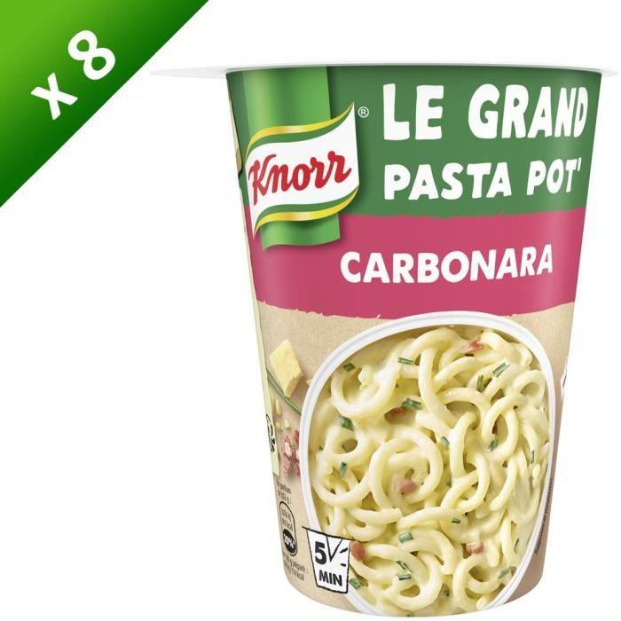 KNORR Plat Préparé Pasta Pot à la Carbonara - Lot de 8x 92 g