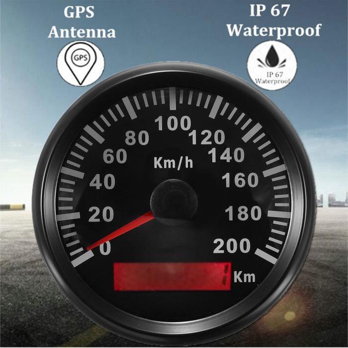 NEUFU GPS Compteur IP67 Etanche 200KM/H Voiture Moto Vitesse Odomètre
