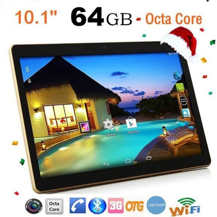 10,1 pouces Tablette PC - RAM 4G ROM 64G Android 6.0 noir EU plug