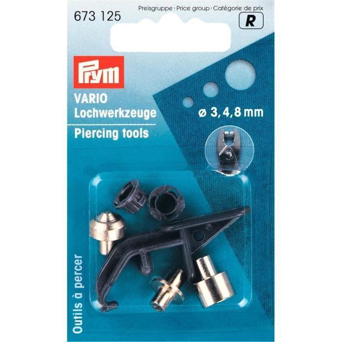 PRYM Outils Prépercage Pince Vario 3/ 4/8 mm