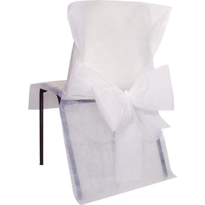 SANTEX Housse de Chaise avec Noeud Blanc
