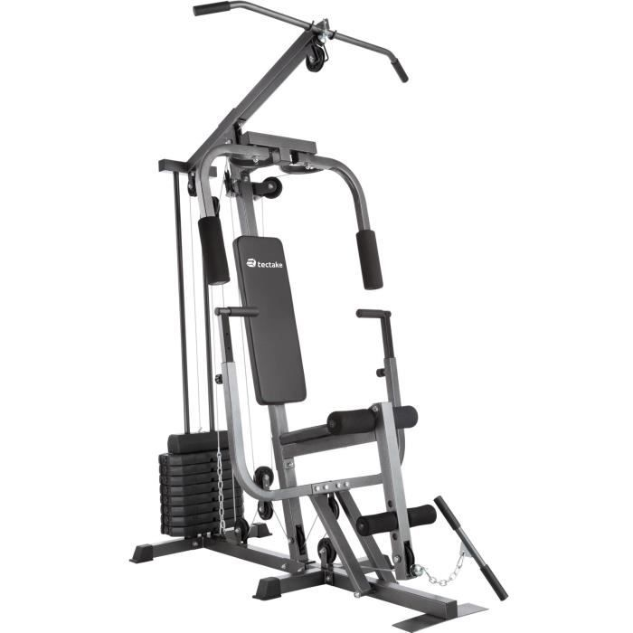 TECTAKE Station de Musculation Appareil à charge modulable- Fonction Chest Press - Charge maximale 150 kg