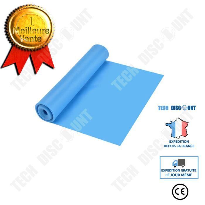 TD® Bande de Yoga Élastique Ceinture En Latex 1.5m Bande De Tension Naturelle Femme Yoga Sport Fitness Maison - bleu