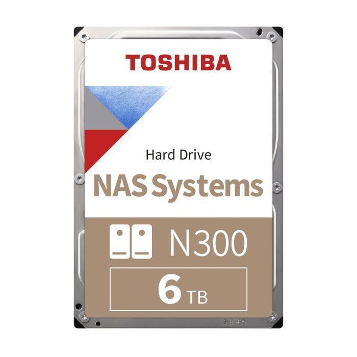 TOSHIBA - Disque dur Interne - N300 - 6To - 7200 tr/min - 3.5- (Bulk) (HDWN160UZSVA)