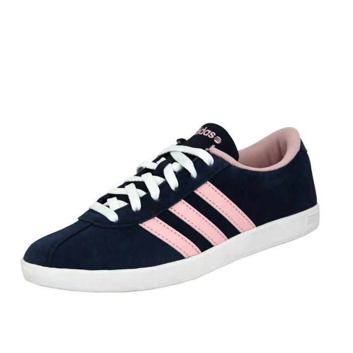 Adidas Neo VLCOURT Chaussures Mode Tennis Femme Bleu Rose ...
