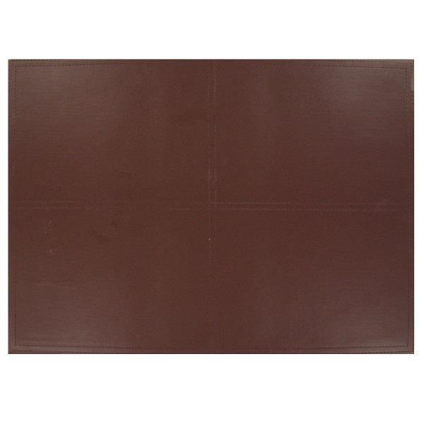 Set de table aspect cuir country marron achat vente for Set de table plastifie personnalise