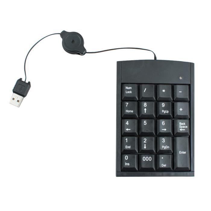 PAVÉ NUMÉRIQUE Pavé clavier USB numérique calculatrice chiffre  t