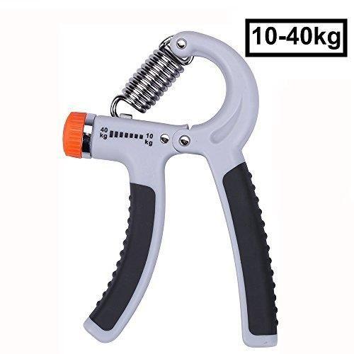Noir 40KG R/ésistance Ajustable Poignee Musculation de Main Poign/ée dexercices pour Avant-Bras Renforcement Hand Grip Exerciser CampTeck 10