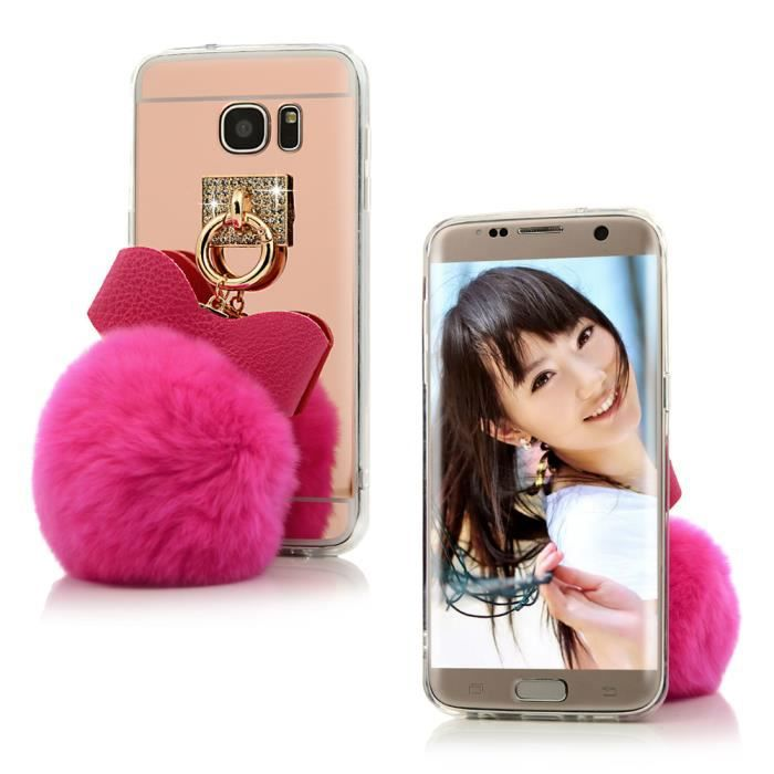 nextmall coque samsung galaxy s7 edge bling strass papillion bulbe pileux mirror arri re tpu. Black Bedroom Furniture Sets. Home Design Ideas