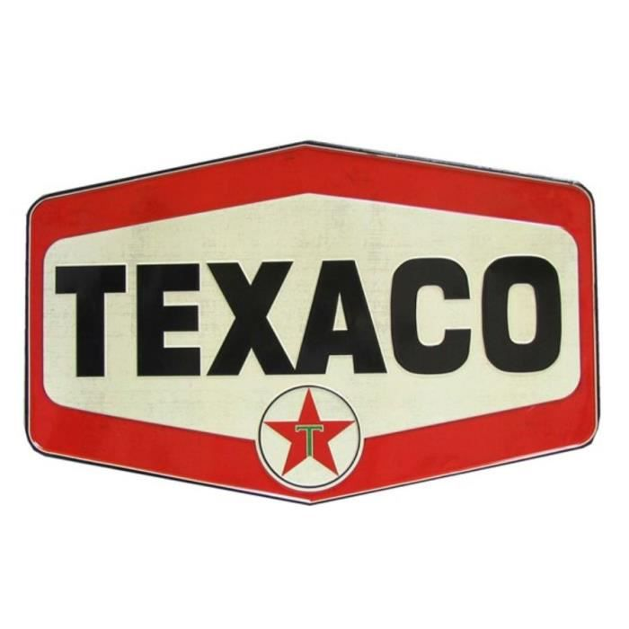 plaque texaco gros losange d co tole metal pub usa achat vente tableau toile tole m tal. Black Bedroom Furniture Sets. Home Design Ideas