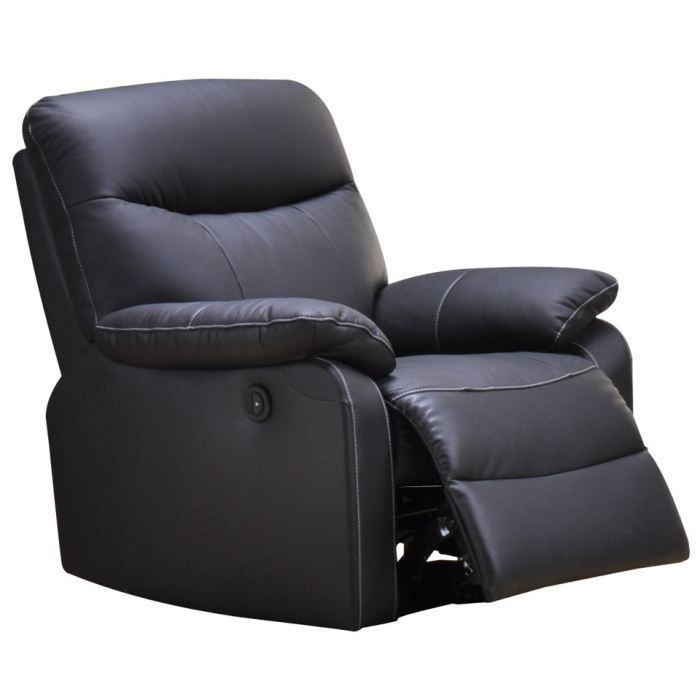 fauteuil relaxation 1 place switsofa swan noir achat vente fauteuil cuir de vachette tour. Black Bedroom Furniture Sets. Home Design Ideas