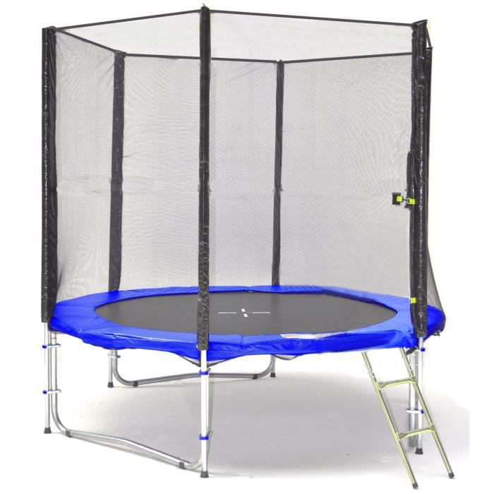 bl t245 ks08bw kid s ports trampoline de jardin 245cm achat vente trampoline cdiscount. Black Bedroom Furniture Sets. Home Design Ideas
