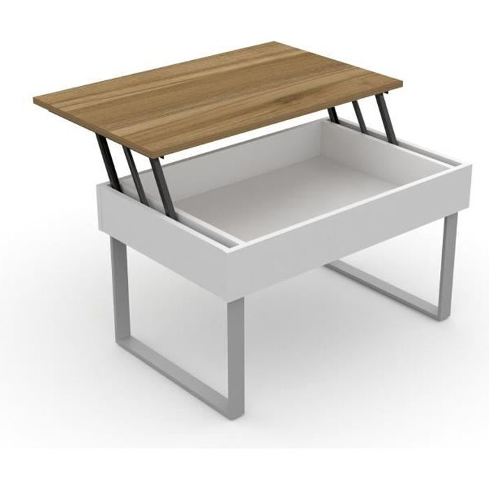 levira table basse relevable don 80 x 51 x 45